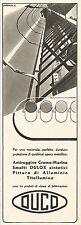 W2565 DUCO - Smalti a base sintetica DULOX - Pubblicità 1938 - Old advertising