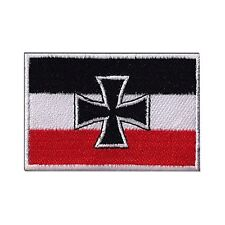 """GERMAN NAVY WWI JACK FLAG 3.5"""" Logo Sew Ironed On Badge Embroidery Patch"""