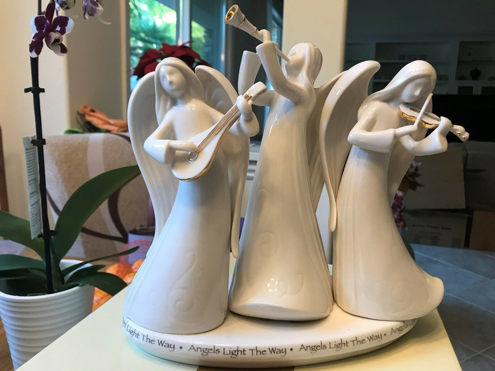 A Gift From Heaven - Porcelain Triple Figurine Figurine Figurine With 14K gold Accents aba9e7