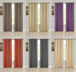 2-PANEL-SOLID-LINED-THERMAL-BLACKOUT-GROMMET-WINDOW-CURTAIN-DRAPE-2-SIZES-K32