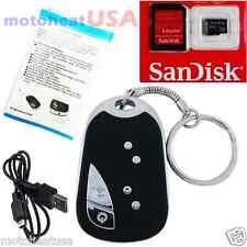 8GB Hidden Spy Cam Camera Nanny Video Recorder Mini Spy Keychain Car  HD