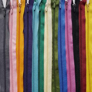 """16"""" (40 Cm) Nylon Zips Pour Couture Et Artisanat Fermé Fin Autolock Color 1st Classe Postuk-afficher Le Titre D'origine Complet Dans Les SpéCifications"""