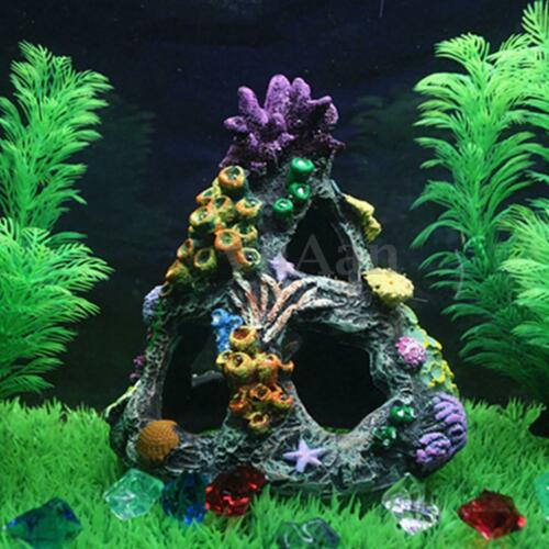 Fish Tank Resin Coral Mountain View Cave Rockery Landscape Aquarium  Decoration