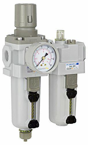 "PneumaticPlus Air Filter Regulator Lubricator Combo 1//2/"" NPT SAU400-N04DG"