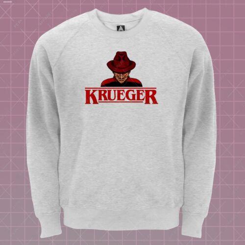 Krueger Halloween Sweatshirt Stranger Elm Street Jumper Nightmare Horror Lit Top