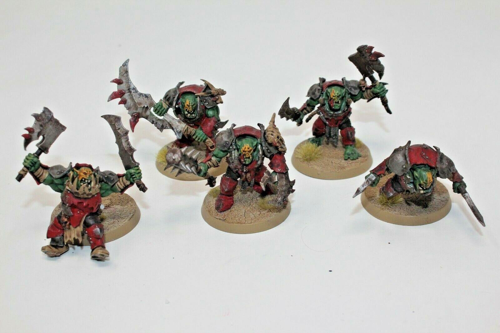 Warhammer orcos y goblins Brutes bien pintados-JYS53
