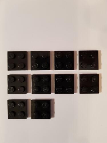 #lb Black Lego ® 10 x plancha de 3022 2 x 2 negro 302226
