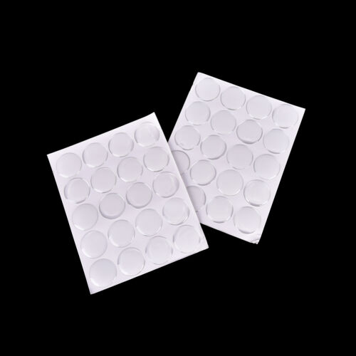 """100Pcs 1/"""" Round3D Crystal Clear Epoxy Adhesive Circles Dome Sticker Bottle CaAB"""