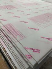 Lexan Tuffak Palram Polycarbonate Sheet 0118 3mm X 60 X 96 Clear Charity