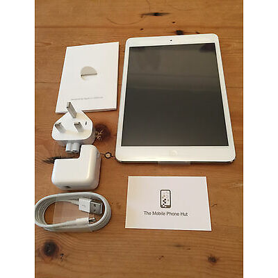 NEW Apple iPad mini 2 128GB Wi-Fi + Cellular (Unlocked) Silver (WARRANTY 5/1/17)