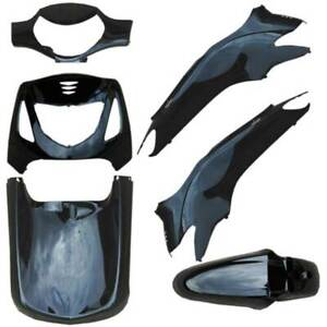 KIT-CARENE-HONDA-SH-125-150-6-PEZZI-NERO-2001-2004-PLASTICA-CARENATURA-FAIRING