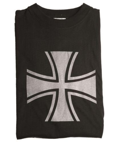 Mil-Tec T-Shirt Balkenkreuz Aufdruck Single Jersey Fasching Schwarz Oliv S-XXL