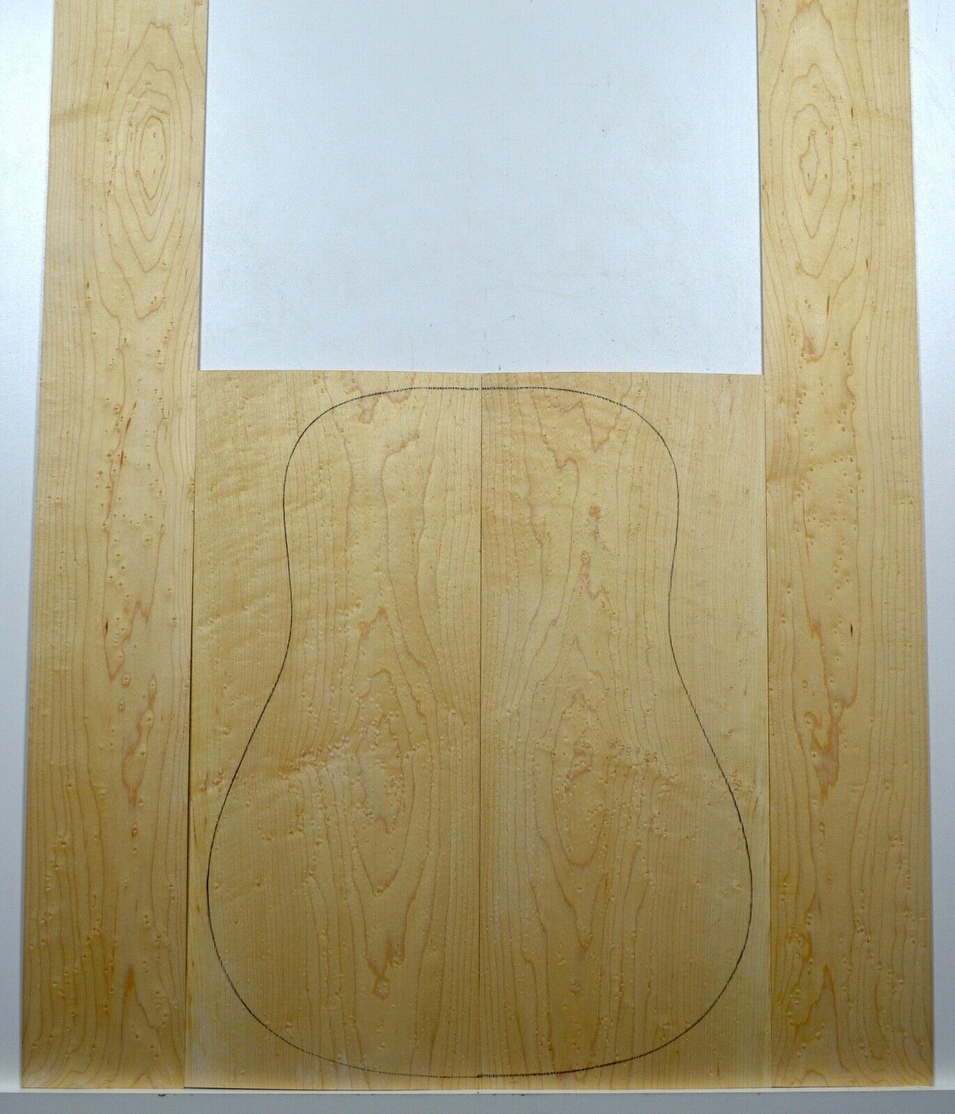 Guitar Luthier CURLY BIRDSEYE MAPLE Tonewood Acoustic Back Sides Set L105