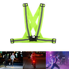 LED Light Up Safety Reflective Stripes Running Walking Cycling Night Sport Vest