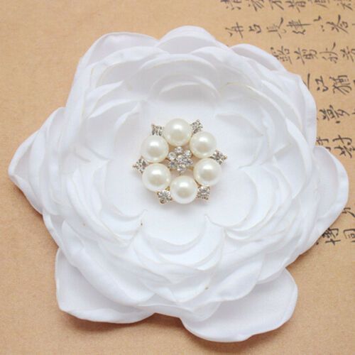Beaded Flower Appliques Costume Headpiece Trim Sewing Floral Craft Patches 1PC
