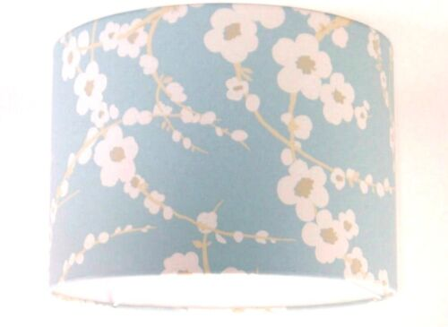 Lampshade Handmade with Laura Ashley Lori Duck Egg Blue Floral Wallpaper