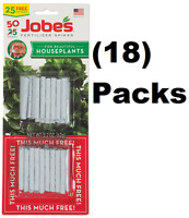 (18) Jobe's 05031t 50 Pack Houseplant / Potted Plant Food Fertilizer Spikes