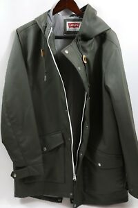 964a983c42f Details about #382 Levi's Hooded Rain Coat Jacket Size L