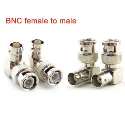 4x BNC Male to Female Connector Adapter 90 Angle For CCTV Security Video camera