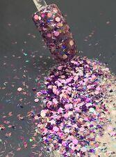 glitter mix acrylic gel nail art    CLARISSA   limited edition