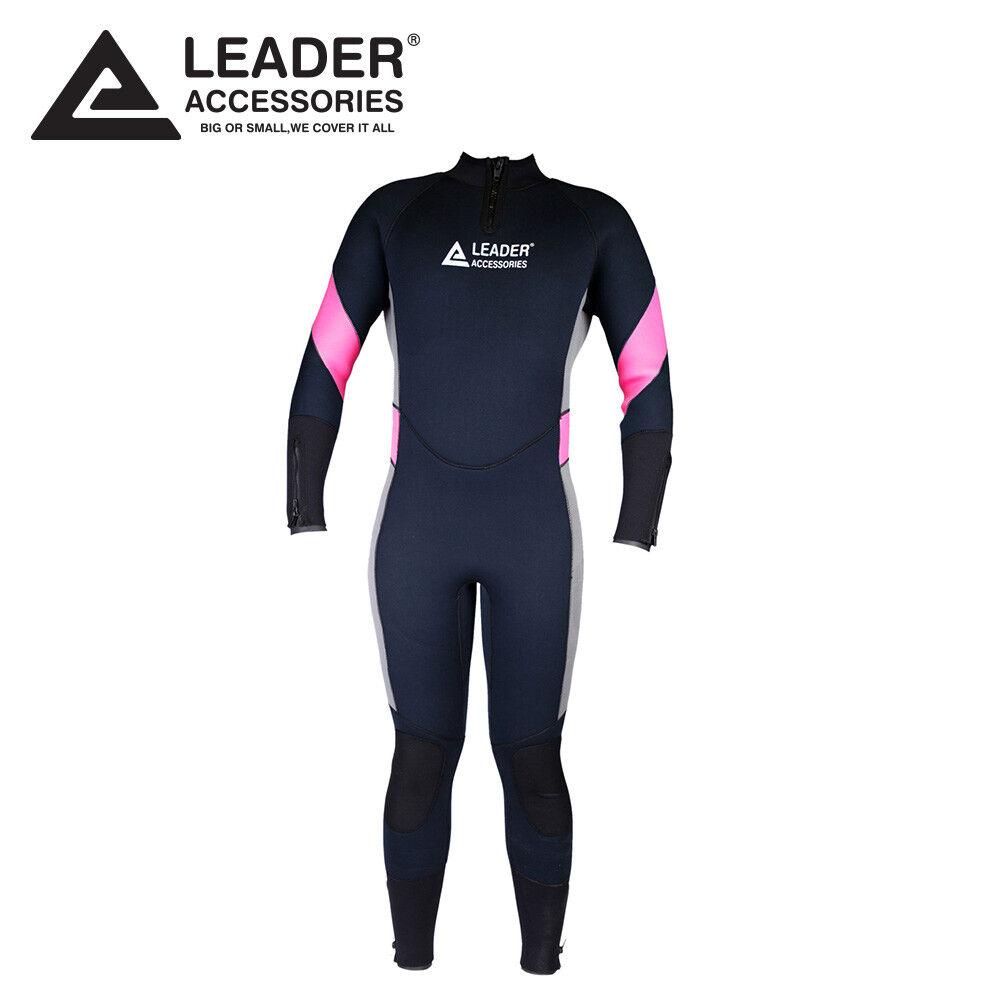 Leader Accessories 5mm   XXL  Women's Fullsuit Wetsuit For Scuba Diving  excellent prices