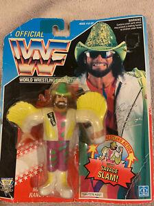 "/""Macho Man/"" Randy Savage Green Hat WWF Hasbro 1993 Figures Series 5"