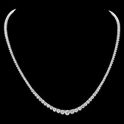 8. ^18k White Gold 12.00ct Diamond Necklace Lot 8