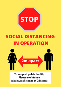 Social distancing poster print sign  stop the virus spread sign A2 A3 A4