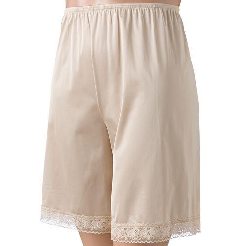 "Vanity Fair Underglows 100% Nylon Damask Petti Leg Slip Size XL Length 24"""