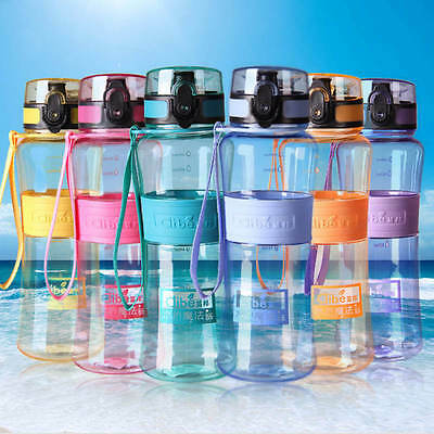 Portable 450ML Water Bottle Hiking Cycling Water Drinking Bottle Cup BPA Free