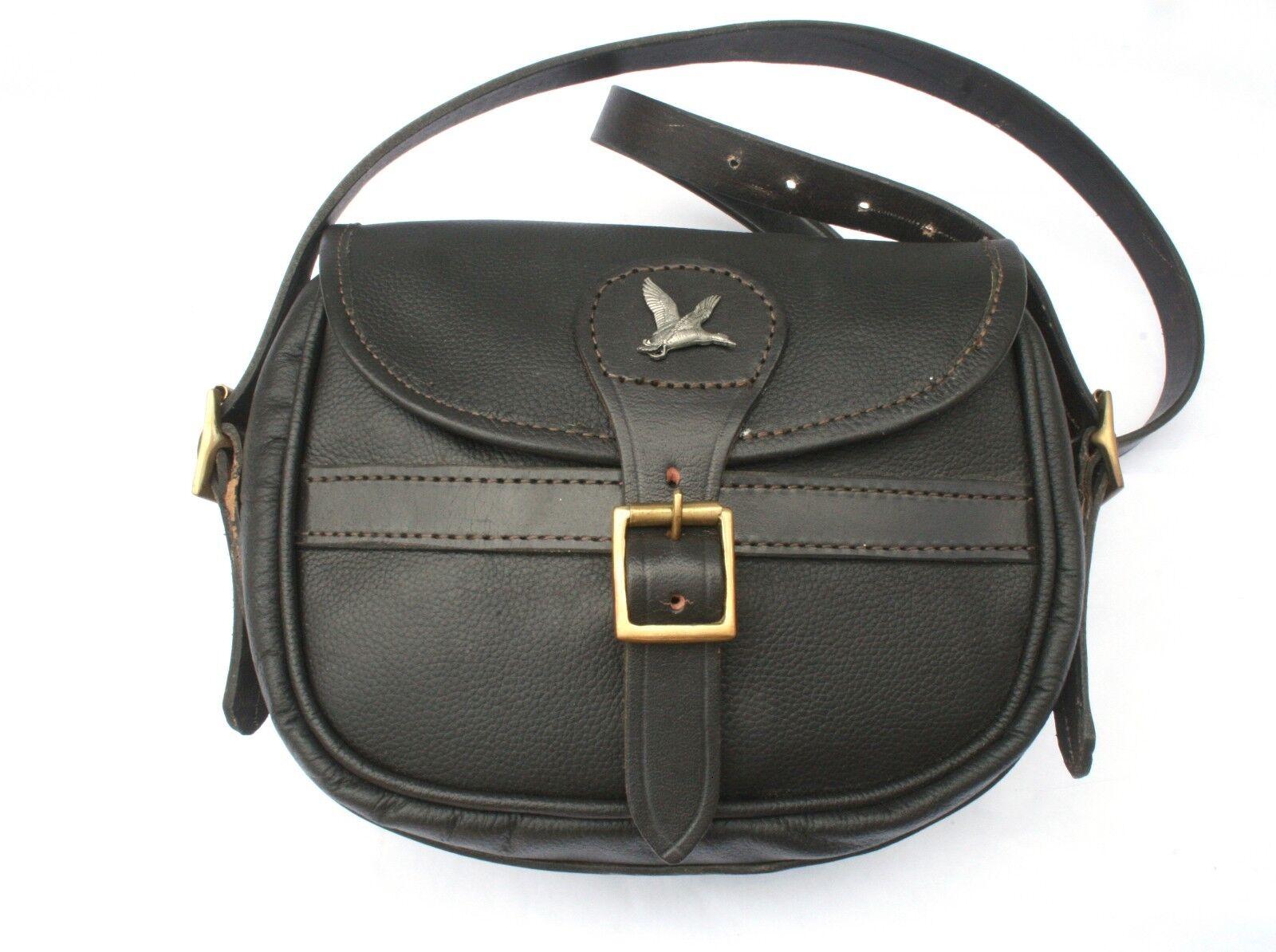 Mallard Bird Leather Cartridge Shooting Bag 75 Capacity Game Shooting Gift
