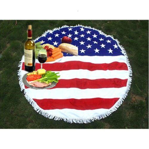 Beach Blanket Pool Towel Picnic Rug Throw New USA Flag