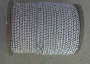 """USA 1//8/"""" x 500/' Bungee Cord Shock Cord White with Black Tracer"""