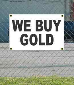 2x3 WE BUY GOLD Red /& White Banner Sign NEW Discount Size /& Price FREE SHIP