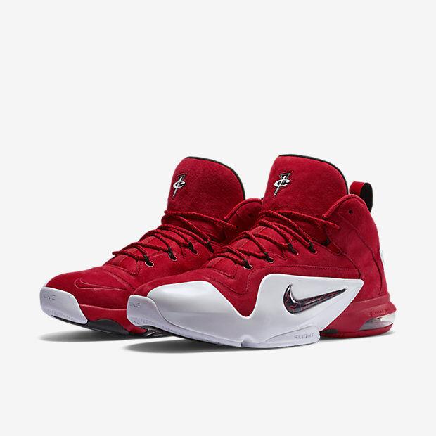 Nike penny 6 vi ridotta dimensione 749629-600 jordan foamposite università rosso
