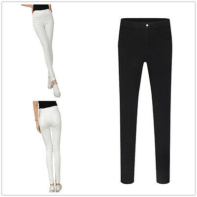 Women Ladies Full Length Slim Stretchy Leggings Jeggings Trousers Size 8-18 SchöN Und Charmant