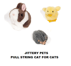 VIBRATING INTERACTIVE CAT//KITTEN TOY RABBIT OR HEDGEHOG CHOOSE DUCK NEW