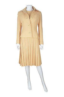 Christian Dior Diorling Numerato Peach Dress & Giacca Set (s)-mostra Il Titolo Originale I Prodotti Sono Venduti Senza Limitazioni
