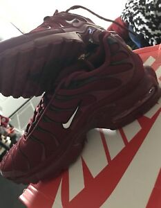 fa9681e68b Nike Air Max Plus TN Tuned 1 Team Red Burgundy Black White Women's ...