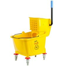 Commercial Janitor Mop Bucket 36 Qt And Wringer Professional Cleaner Yellow