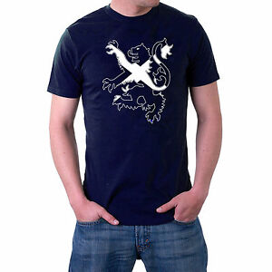 Scottish-T-shirt-Lion-Rampant-Independence-Scotland-Saltire-S-5XL-Sillytees
