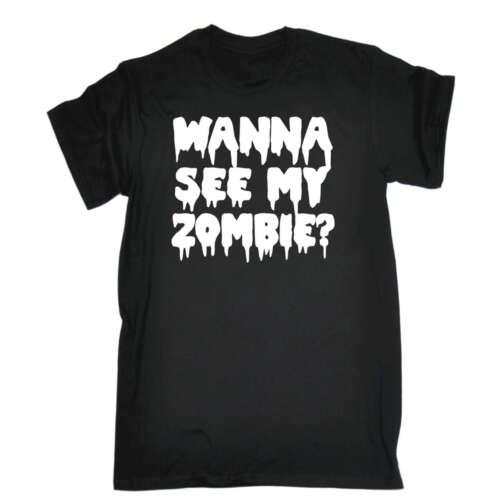 T shirt vuoi vedere il mio Zombie reversibile GIMMICK Trucco Halloween Compleanno T-shirt