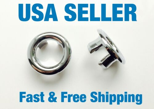 3 Bathroom Sink Overflow Trim Ring Chrome Hole Cover Cap Round Insert USA Seller