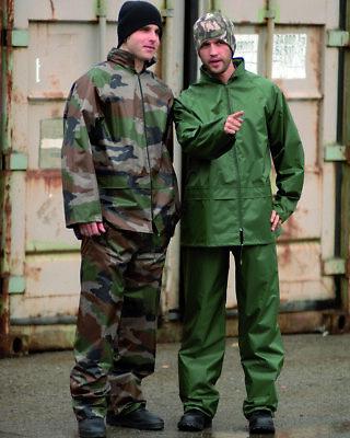 REGENANZUG HOSE+JACKE NÄSSESCHUTZ DK BLAU ANGELN OUTDOOR TREKKING ARMY BW NEU