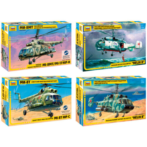 """Soviet ZVEZDA Model Kits /""""Modern Military Helicopters Russian Air Force/"""""""