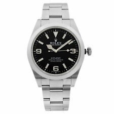 Rolex Explorer Steel Luminous Black Dial Automatic Mens Watch 214270