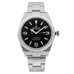 Rolex-Explorer-Steel-Luminous-Black-Dial-Automatic-Mens-Watch-214270