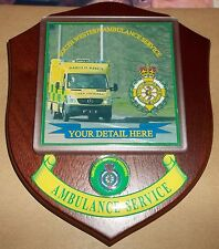 South Western Ambulance Service wall plaque personalised free of charge.