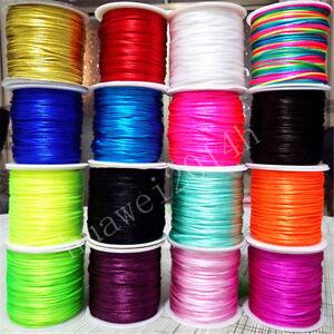 70Meter-1-5mm-Chinese-Knot-Satin-Nylon-Braided-Cord-Macrame-Beading-Rattail-Cord
