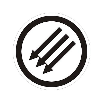 "ALT RIGHT DELETE Computer Button Anti Nazi Anti Fascism Sticker Decal 5/""x5/"""